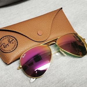 Ray Ban Aviator Sunglasses Cyclamen Pink 🤩